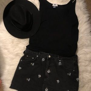 Long black tank-top. Old Navy Tall size Large